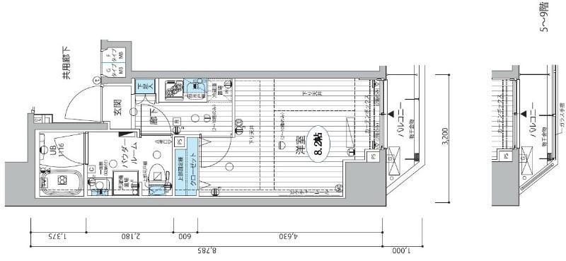 水商売賃貸 MS三田アーバンスクエア 間取り図